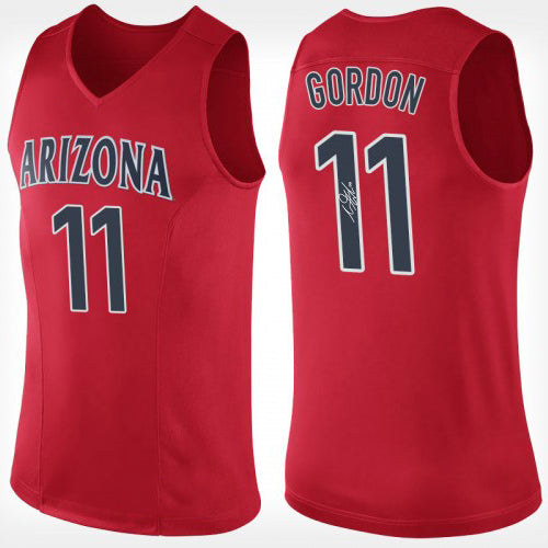 the best attitude bf06d 81ab4 AARON GORDON AUTOGRAPHED RED COLLEGE JERSEY