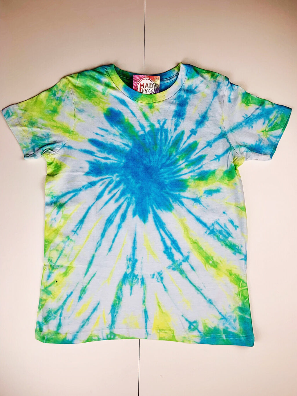 Y10 - Blue, Yellow and Green T-shirt