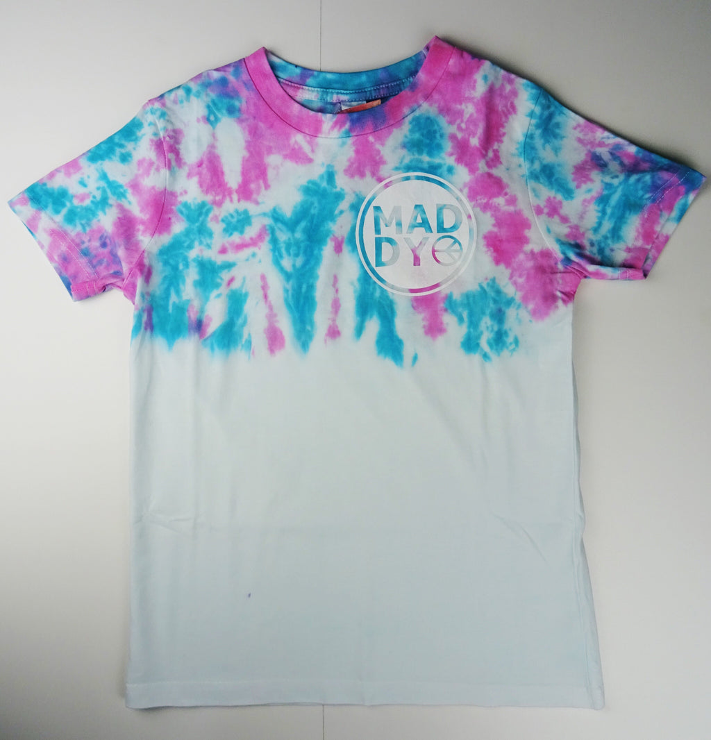 Y8 - Teal and Pink logo T-shirt