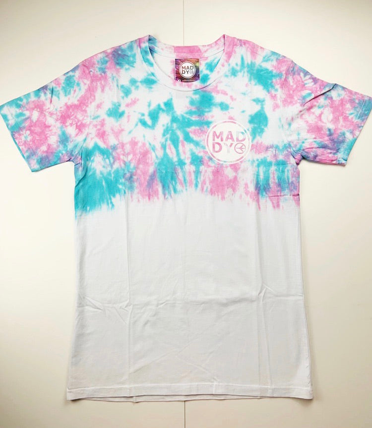 M - Blue and Pink Logo T-shirt