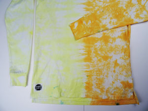 S - Yellow and Orange Half/half Long sleeve