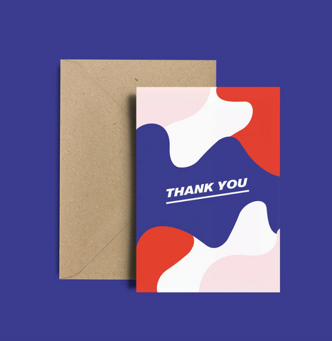 Carte remerciement, Thank You Cards, Enveloppe Kraft recyclé, Thank You Card Pack