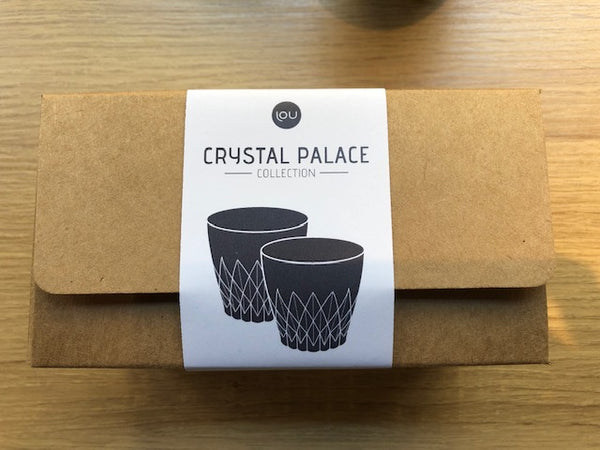 CRYSTAL PALACE PORCELAIN CUP X 2 / BLACK