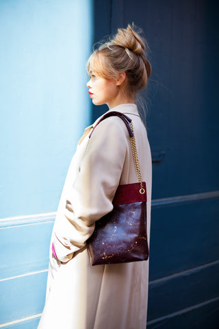 Bucket Bag EXISTE - prune et doré
