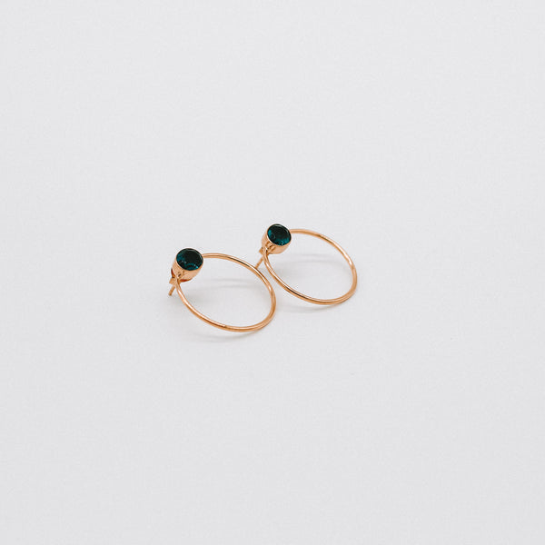Circle stone earrings