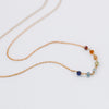 Rainbow gem necklace