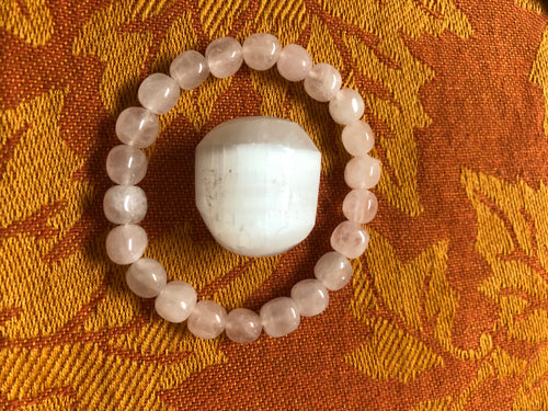 Rose Quartz & Selenite - crystal energy & angelic healing