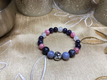 III Ultimate Love - Rose Quartz-Sugilite-Rhodochrosite-Amethyst & Sterling Silver - crystal energy & angelic healing