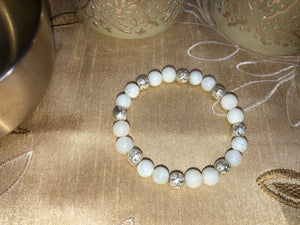 I Peace & Harmony - Moonstone- White Jade - Sterling Silver - crystal energy & angelic healing