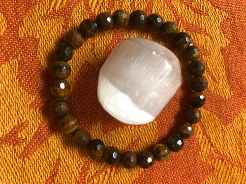Tiger's Eye & Selenite - crystal energy & angelic healing