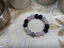 I Ultimate love - Rose Quartz-Lava Rock & Sterling Silver - crystal energy & angelic healing
