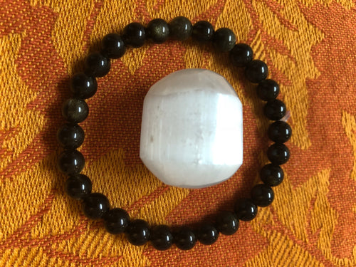 Golden Sheen Obsidian & Selenite - crystal energy & angelic healing