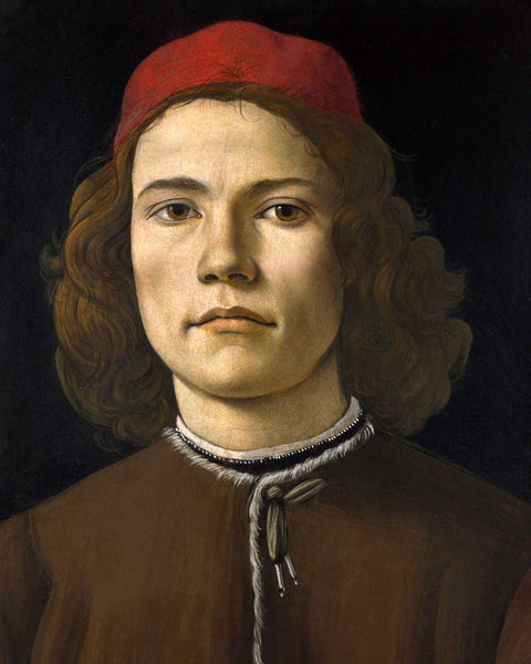 Sandro Botticelli - Portrait of a Young Man - art for home or office
