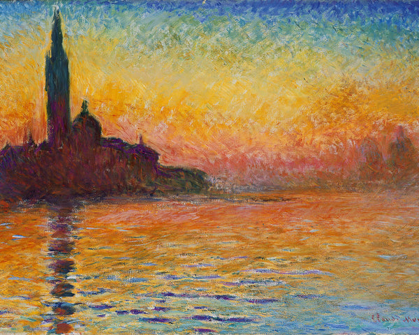 San Giorgio Maggiore at Dusk - Claude Monet - art for home
