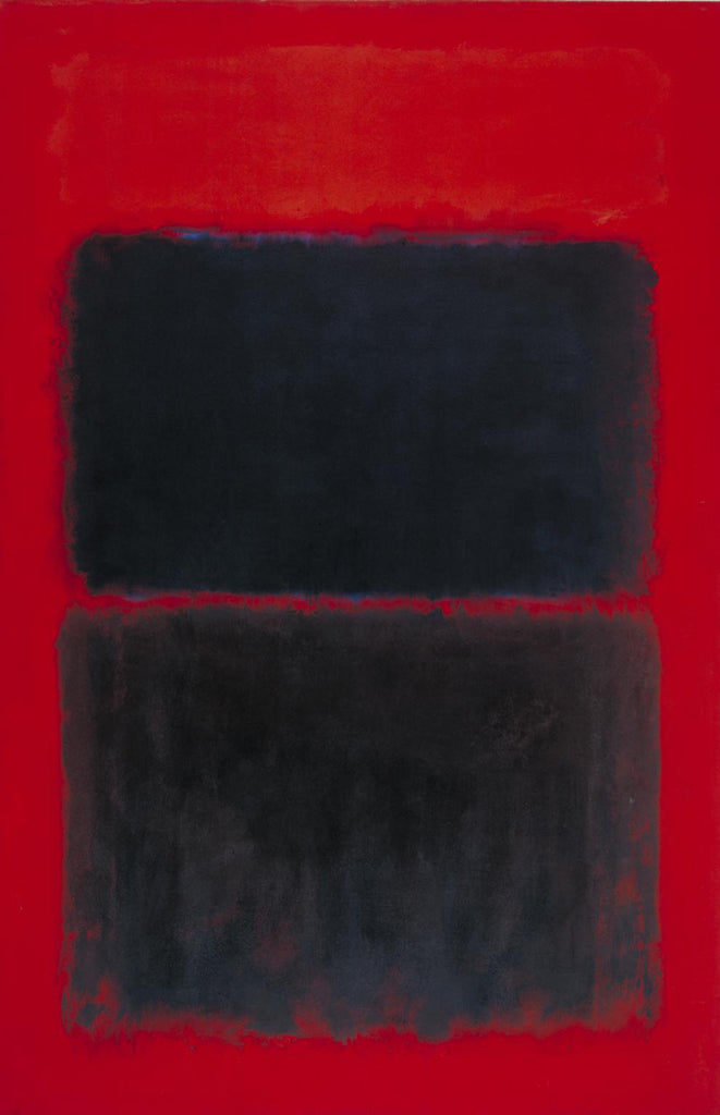 Lichtrood over zwart - Mark Rothko