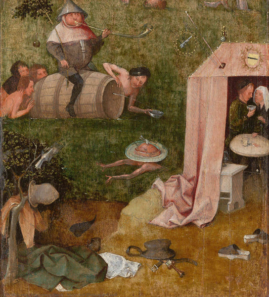 Symbolic art Hieronymus bosch - Allegory of gluttony and lust