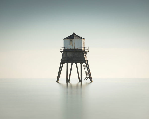 Minimalistic art photo with lighthouse - art fo your interior