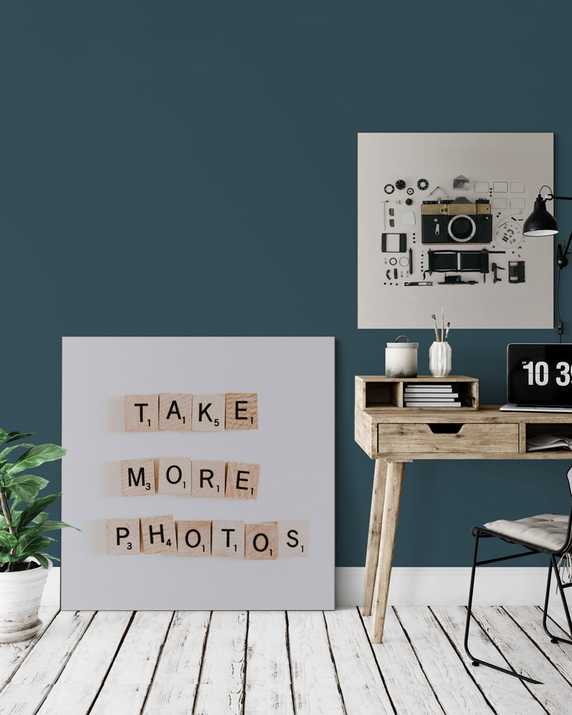 photographer workplace photo art with camera