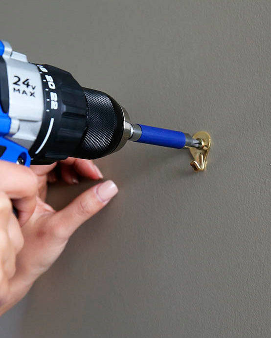 Plaster wall drilling