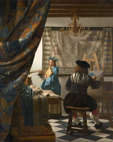 posing Johannes Vermeer The Art of Painting
