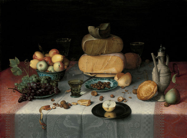 still life- with cheese floris claesz van dijck