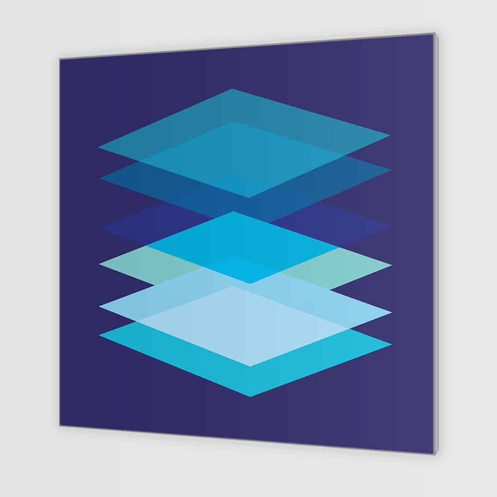 Abstract Geometric Overlay Rectangles