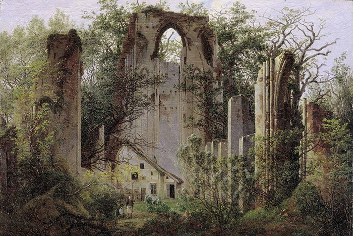 Friedrich Ruine in het bos - Caspar David