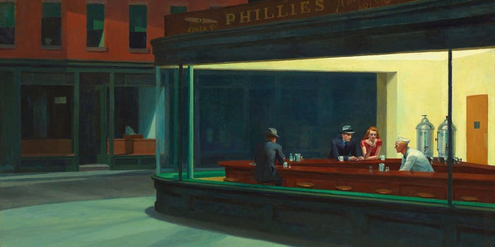 Nighthawks (Nachtbrakers) -  Edward Hopper