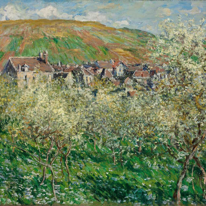 Pruimenbomen in bloesem - Claude Monet