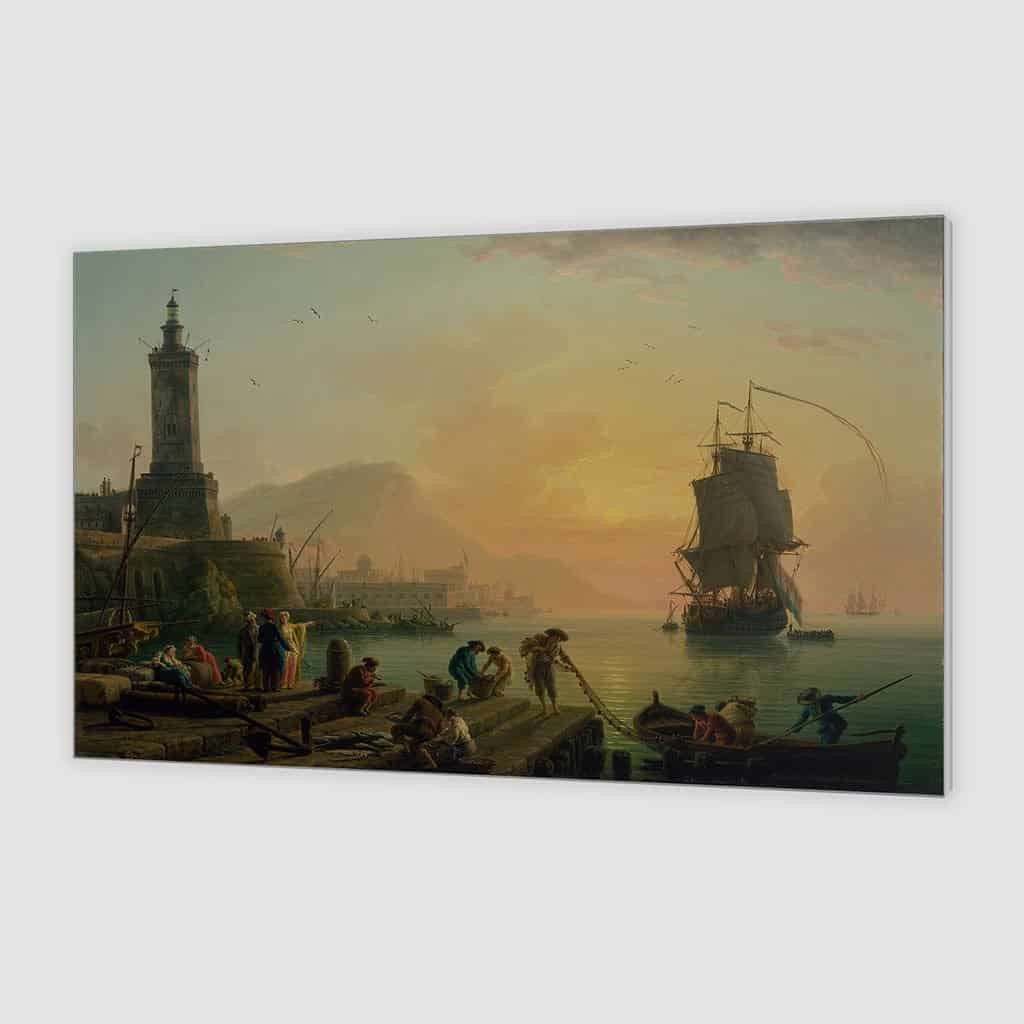 Rust in een mediterrane haven - Claude Joseph Vernet