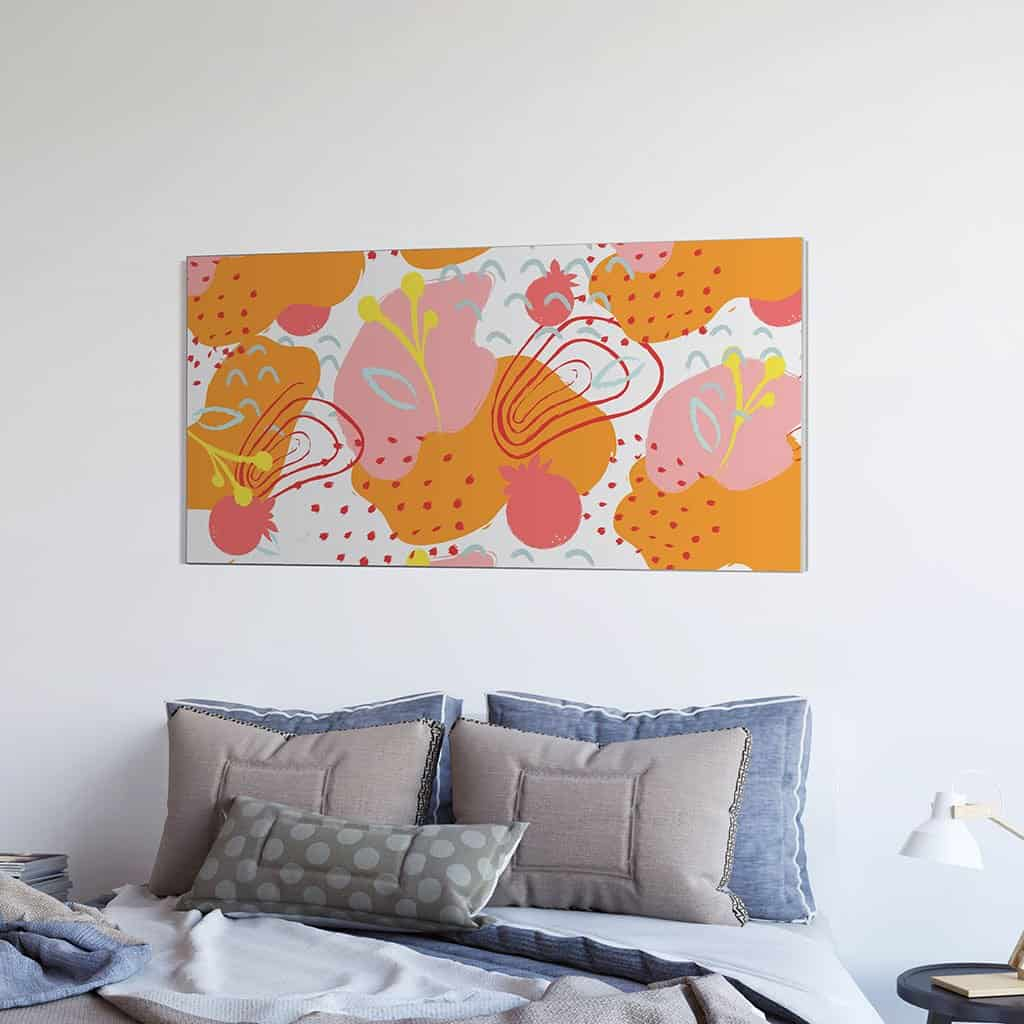 Abstract Flower Orange Pattern
