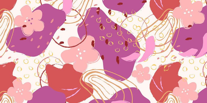 Abstract Flower Pink Pattern