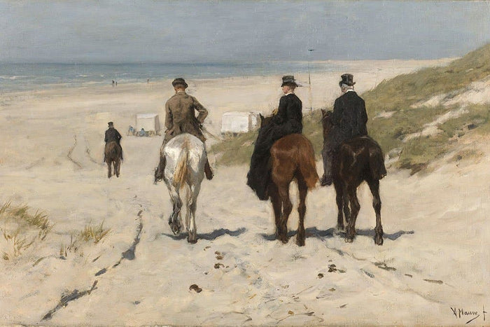 Morning Drive langs het strand (Anton Mauve)