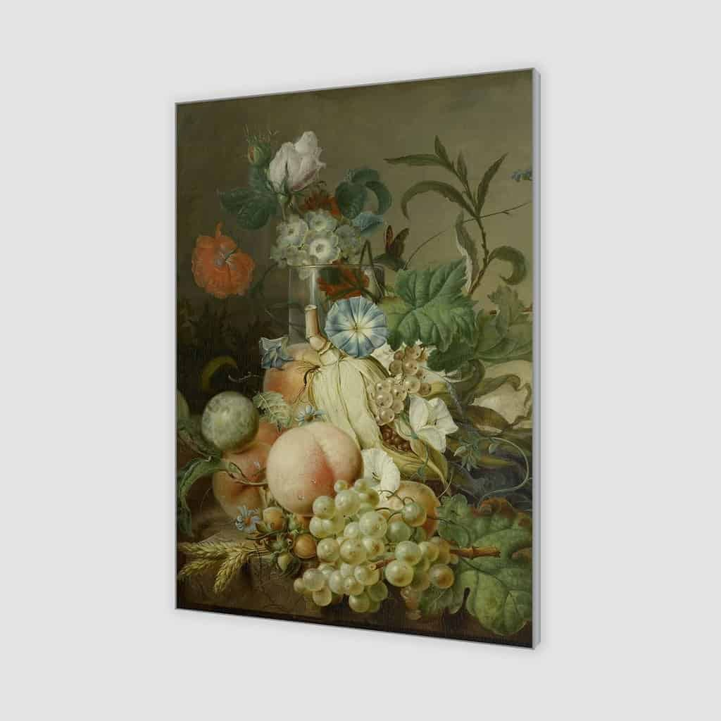 Stilleven met bloemen en fruit (Jan Evert Morel)