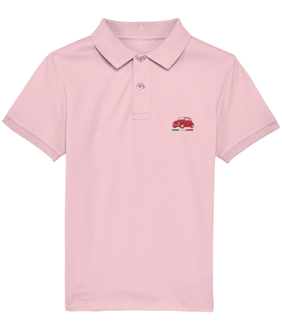 Kids Polo Shirt (Red Embroidered Cinquecento)