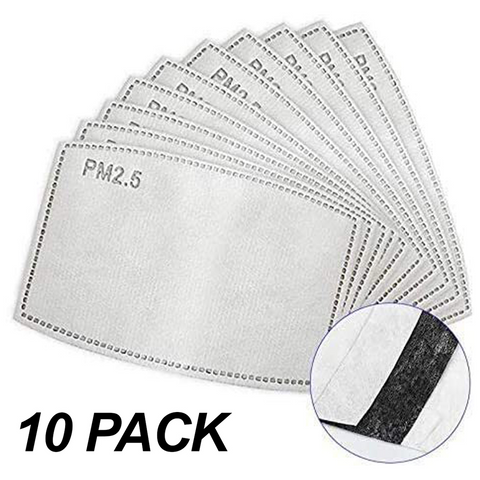 Pack of 10 Activated Carbon Filters (5 Layer PM2.5)