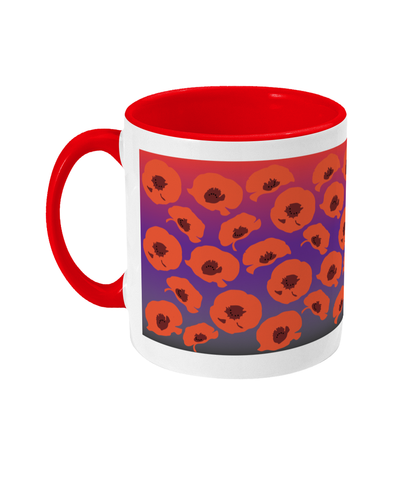 'Italian Poppies' Design Mug