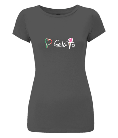 Women's Slim-Fit, Soft 100% Organic Cotton T-Shirt 'Love Gelato'