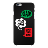 Ciao Ciao Ciao Back Printed Black Hard Phone Case