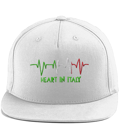 'Heart in Italy' Cotton Rapper Cap