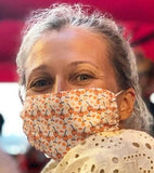 Woman wearing Spritz Face Mask