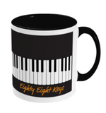 Eighty Eight Keys Black Mug