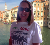 Woman Wearing Venice Italy T-shirt