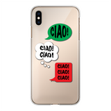 Ciao Ciao Ciao Back Printed Transparent Hard Phone Case