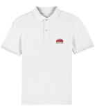 Red '500' Embroidered Organic Cotton Polo Shirt.