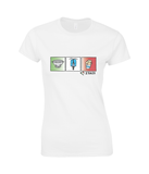 Ladies 'Love Italy' 100% Soft Cotton T-shirt