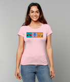 Ladies classic 'Vespa' design Organic Cotton T-shirt