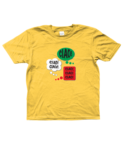 Kids Soft T-Shirt Ciao Design