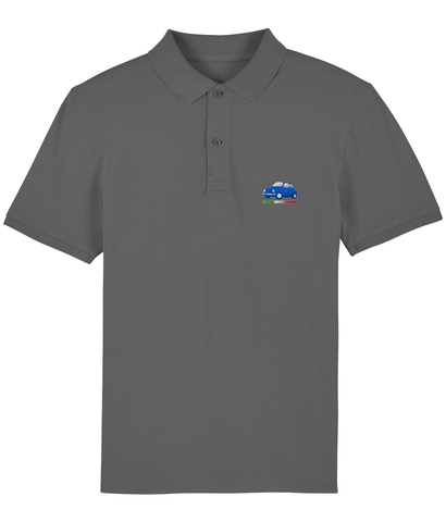 Men's Royal Blue Cinquecento Embroidered Organic Cotton Polo Shirt