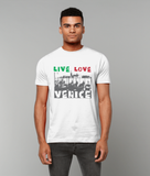 man wearing Venice t-shirt